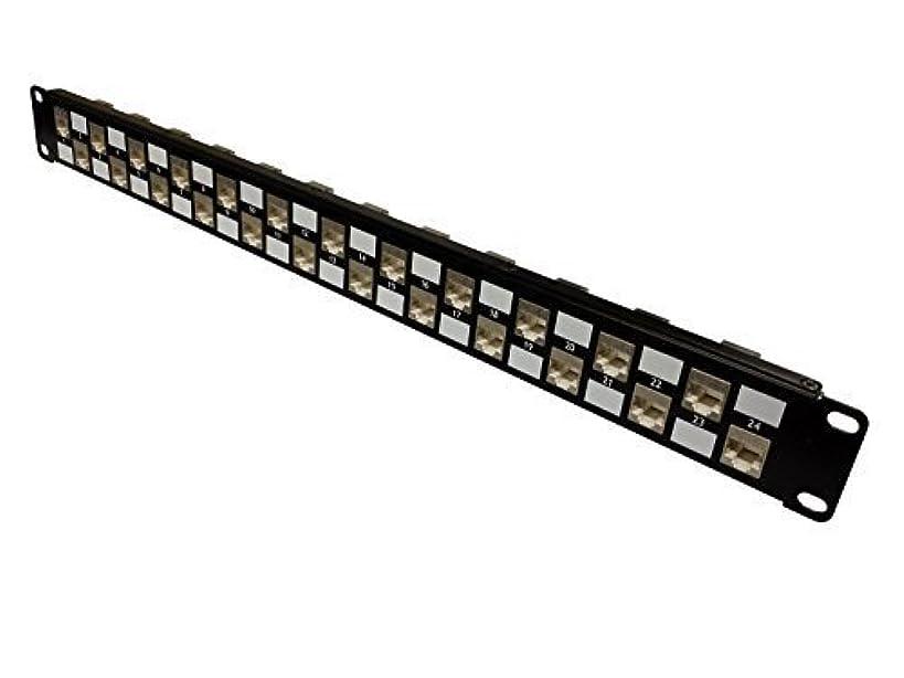 R.J. Enterprises - No Punch Down-Cat6 Patch Panel (Shielded) 568A/B, Special Design,TOOL-LESS (Feed Through), 24 Port - SDPP-24-C6S-Data Center- Telecom Room