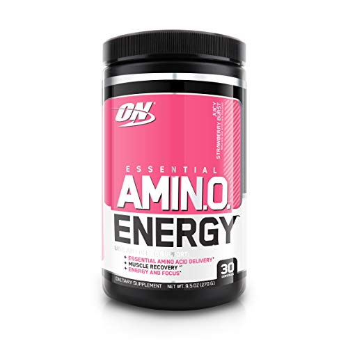 Optimum Nutrition Amino Energy Exclusive Flavours 30 Servings Juicy Strawberry Burst, 270 g