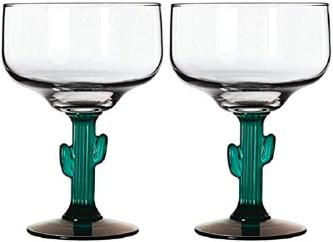 TopNotch Outlet Margarita Glass Cactus Margarita Glasses Go South of The Border with These Two product image