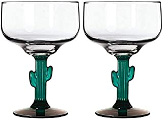 TopNotch Outlet Margarita Glass - Cactus Margarita Glasses - Go South of The Border with These Two 16oz Margaritavilles - ...