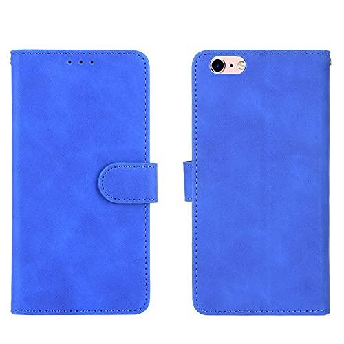 Tapa de la caja de la caja del teléfono Funda de billetera para iPhone 6 Plus / 6S Plus, cartera de cuero PU con titular de la tarjeta de crédito cubierta protectora a prueba de golpes para iPhone 6 P