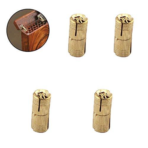 4pcs 8mm Kupfer Scharniere Kabinett Zylindrisches Fass Für Möbelbeschläge in Unsichtbar Messing Topfscharniere Berg Versteckt
