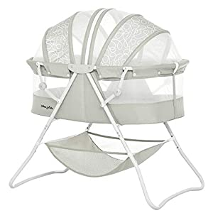 Dream On Me Karley Bassinet, Cool Grey, Crib,14 Pounds