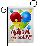 Ornament Collection Autism Awareness Garden Flag Support Inspirational Survivor Ribbon Prevention Cancer Breast BLM House Decoration Banner Small Yard Gift Double-Sided, 13'x 18.5', Made in USA