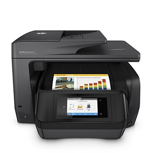 HP OfficeJet Pro 8725Aio 4800X 1200Dpi Hat Tintenstrahldrucker Thermo A424Ppm WiFi–Multifunktions (A Tintenstrahldrucker Thermo, Farbe Druck, 4800X 1200DPI, 250Blatt, A4, Schwarz)