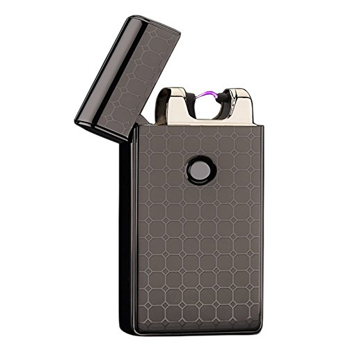 MOJO Spark Lighter - Electric Lighter USB Rechargeable Electrical Spark Cigarette Lighter Tesla Coil (Carbon Fiber Black)