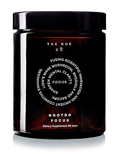 The Nue Co. - Nootro-Focus | Natural Supplement for Heightened Mental Clarity + Focus (60 Capsules)