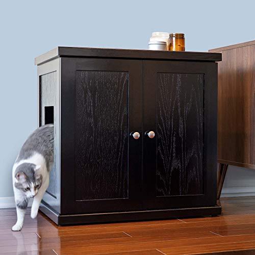 THE REFINED FELINE Cat Litter Box Enclosure Cabinet, Hidden Litter Tray Cat Furniture, Large + XLarge, Modern Style…
