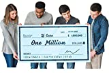[Upgraded] Dry Erase 30' x 60' Oversize Giant Check - Large Fake Checks - Big Blank Presentation Check - Reusable Giant Checks for Charity Donation, Lottery, Raffle, Novelty, Fundraiser (Pack of 1)