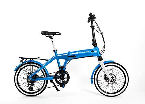 Aurotek Sintra Bicicleta Eléctrica Plegable de 20', Adultos Unisex, Ocean Blue, Mediano