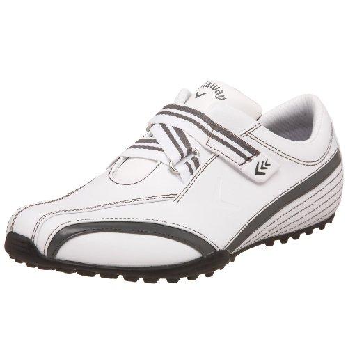 Callaway Women's Vela Golf Shoe,White/Graphite,10 M US
