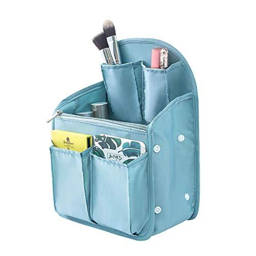 Sac à cosmétiques imperméable à l'eau de Voyage - Toilette à Suspendre Polyvalente et Organiseur de cosmétiques avec Nombreuses Poches (Bleu Marine)