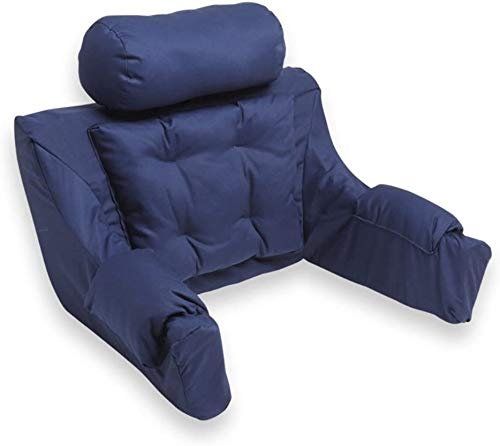 Hermell Deluxe Extra Firm Bed Lounger Reading Pillow (Navy)