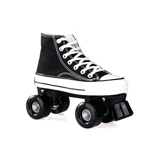 ZXSZX Patins roulettes Toile Quad Roller Skates...