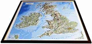 British Isles Raised Relief Map: Light Wood Frame (Raised Relief Maps Series) (2007-09-07)