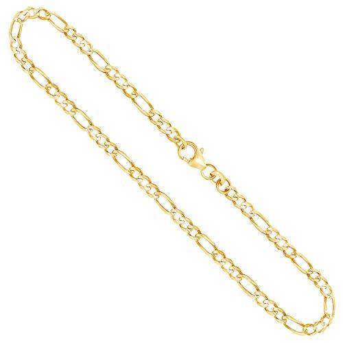 Goldkette, Figarokette Gelbgold 333/8 K, Länge 50 cm, Breite 3.1 mm, Gewicht ca. 5.8 g, NEU