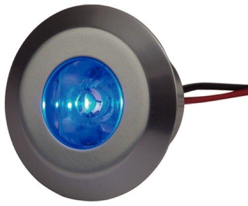 SeaDog Line LED acoplable cortesía luz Azul w/Bisel de Aluminio
