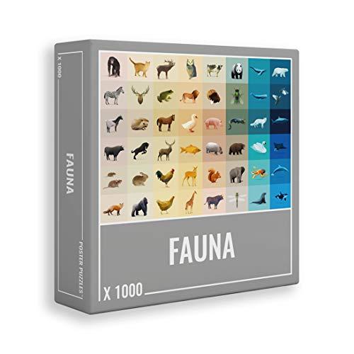 Fauna - Farbenfrohes 1000 Teile Puzzle für Erwachsene mit coolen Polygon-Tieren