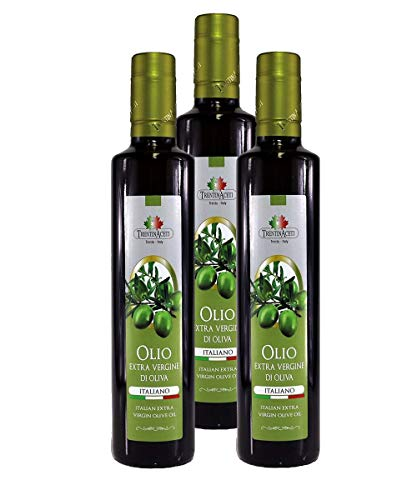 100% Italienisches Extra Natives Olivenöl aus Italien - 3x250 ml - Olivenöl in höchster Qualität - TrentinAceti - kaltgepresst