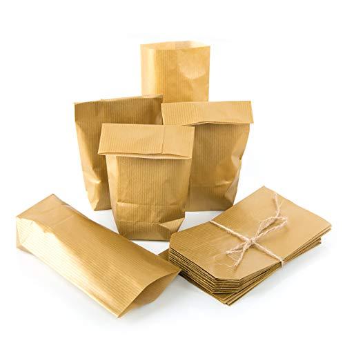 50 kleine papieren zakjes 9 x 15 x 3,5 goud verpakking kerstcadeauverpakking gastgeschenk cadeautje cadeautje cadeautje kerstmis klanten huwelijk