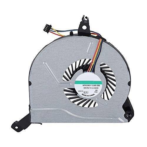 ASHATA CPU Refrigerador del Ordenador Portátil para HP, Replacement Laptop CPU Cooling Fan for HP Pabellón 14-V 14-V028TX 15-V 15-P 767712-001 Q139 Q140, para HP Pavilion 17-f186ng 17-f150nc,e