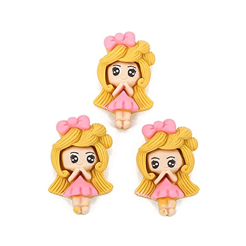 YULE Accesorios de bricolaje 10 piezas de resina Kawaii accesorios princesa Flatback cabujón adorno para scrapbooking DIY decoración manualidades mixto (color: 5)