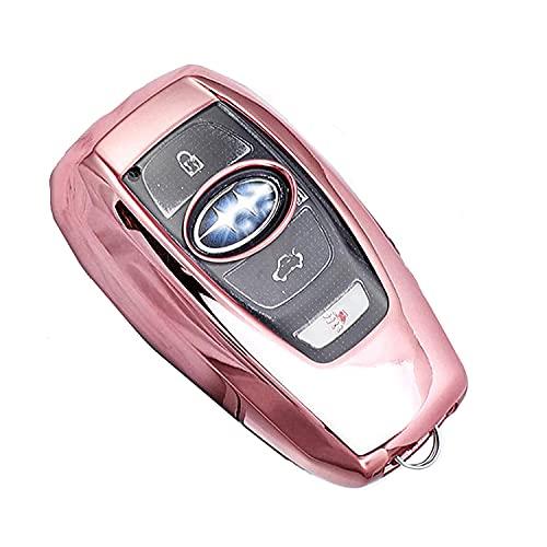 来慶(ライケイ) スバル用 スマートキー ケース レヴォーグ レガシィ インプレッサ フォレスター アウトバック XV K15 BRZ G4 WRX S4 STI B4 等に対応しています。 (ピンク)