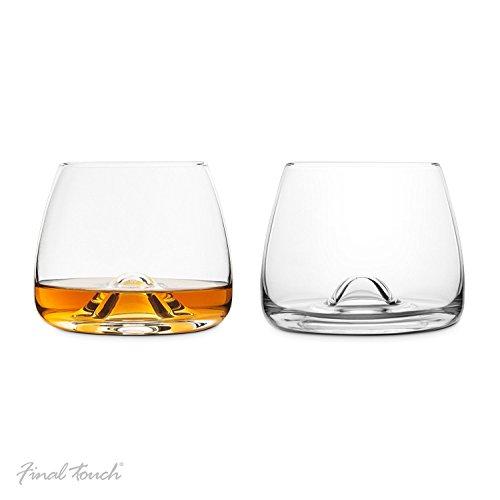 Final Touch 100{c39930f6e01b3732530c3b8f7b0915a7503309c6cdfd8894f854925f1fad79c1} Lead-free Crystal Whisky Glasses Whiskey Gläser Whiskeygläser Kristallglas Hergestellt mit DuraSHIELD Titanium verstärkt für erhöhte Haltbarkeit Hoch 9 cm 300ml - Packung mit 2 Stück