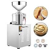 VBENLEM 110V Commercial Peanut Butter Maker 15 Kg/h, Electric Peanut Butter Maker 2850 r/min Stainless Steel, Peanut Butter Maker Machine 1100w for Peanut Sesame Walnut Butter