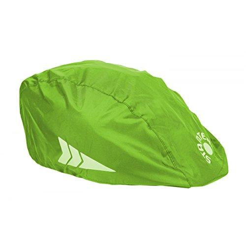 STANTEKS Helm Regenüberzug Universal Regenschutz für Fahrradhelme Regenkappe Schutzbezug (grün)