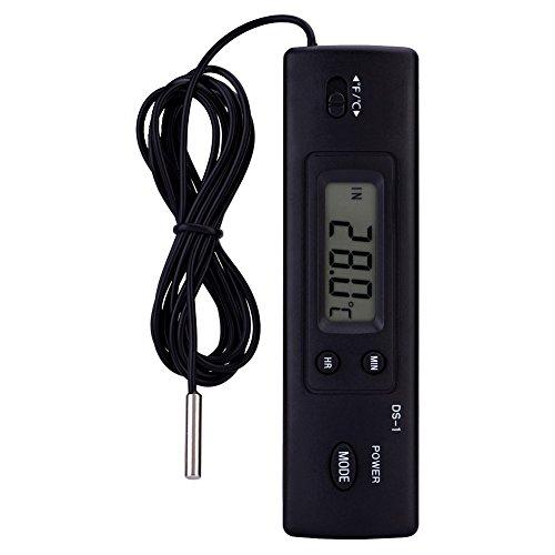 electrónica LCD Digital Termómetro Temperatura Humedad Cuchillo Sonda Sensor verdrahtet para frigorífico Aire Acondicionado Pez Tank Uso