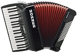ACORDEON CROMATICO - Hohner (A16621) (Bravo III) (72 Bajos) (Negro con Funda de Calidad)