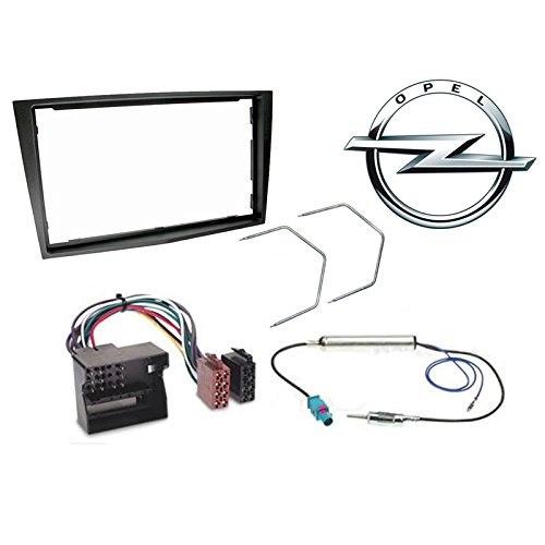 Sound-way 2 DIN Radiopaneel Frame Autoradio, Antenne Adapter, ISO Aansluitkabel, Demontage Sleutels ondersteuning voor Opel Agila, Corsa, Omega, Vivaro, Tigra, Combo