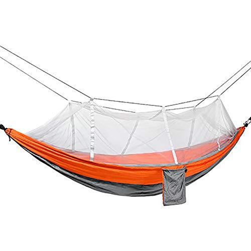 SHARESUN Camping hangmat met muskietennet, outdoor volwassen kinderen nylon anti-muggen rollover hangmat schommel 1-2 personen, maximale belasting 300kg, voor wandelen strand wilde tuin binnenplaats