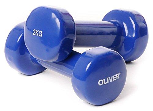 Oliver - Mancuernas (Vinilo, de 0,5 a 5 kg), g 2 x 2,0 kg (Azul)