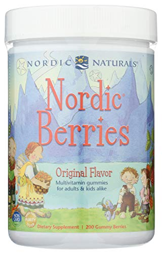 Nordic Naturals Nordic Berries, Citrus - 200 Gummy Berries - Great-Tasting Multivitamin for Ages 2+ - Growth, Development, Optimal Wellness - Non-GMO, Vegetarian - 50 Servings