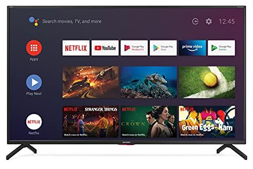 Sharp Aquos 50BN6EA - 50' Smart TV 4K Ultra HD Dolby ATMOS Android 9.0, Wi-Fi, DVB-T2/S2, 3840 x 2160 Pixels, Nero, suono Harman Kardon, 4xHDMI 3xUSB, 2020