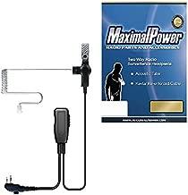MaximalPower HYTERA HYT Single Wire 2-Pin Radio Earbud Headset PTT Mic in-Ear Clear Coil Tube
