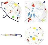 Kids Clear Dome Umbrella Bubble Brolly For Boys And Girls (Space Clear Dome Umbrella)