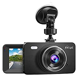 """Dash Cam 1080P DVR Dashboard Camera Full HD 3"""" LCD Screen 170°Wide Angle, WDR, G-Sensor, Loop Recording Motion Detection Excellent Video Images(Black)"""