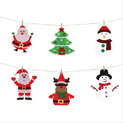 Jackje kerstdecoratie, sneeuwman voor ouderen, banner van glas, totale lengte 90 cm