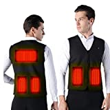 XGYUII Elektro-Heizung Vest USB intelligente Temperaturregelung Lade Heizung Kleidung Warm Heizung Weste Männer und Frauen Angelkleidung,L
