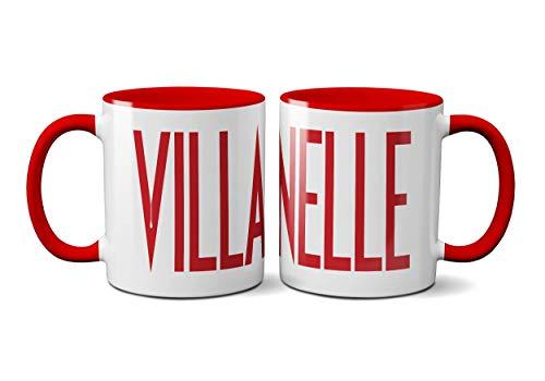 Villanelle TV-Show Tasse - Eve TV Programm Drama Mystery Love Killing Christmas Action Thriller Merchandise Unisex Shopper Tasche Sack Red Handle Prime