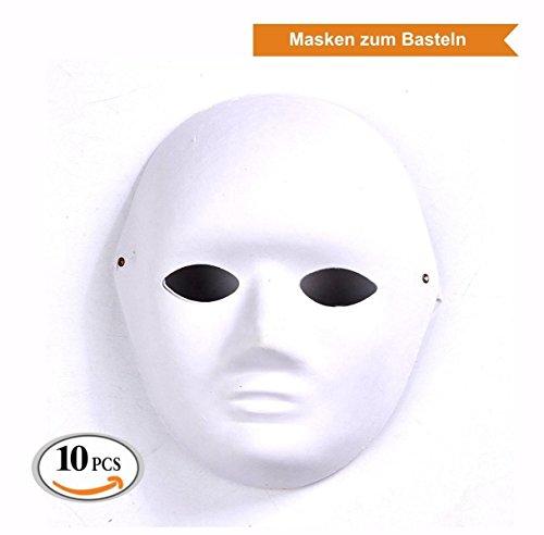 ZADAWERK® Maske - Unbemalt - Frau - 10 Stück