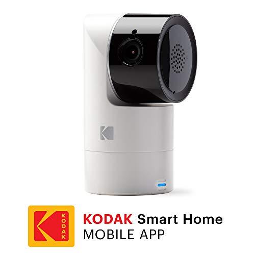 KODAK Cherish C125 Cámara Vigilabebe de alta definición con WiFi y App móvil - Zoom y Inclinación Remoto, Visión nocturna infrarrojos y conversación bidireccional - Complemento de vigilabebés