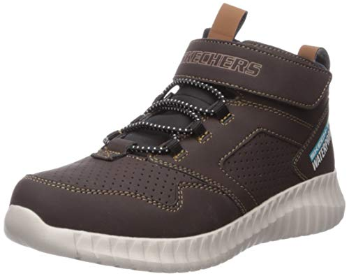 Skechers Boys' Gore & Strap Retro Sneake Trainers, Brown (Chocolate Synthetic/Black & Brown Trim Chocolate), 12 (30 EU)