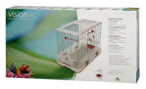 Vision Modèle L01 Cage pour Oiseaux de Grande Taille Standard Grillage Étroit 78 x 42 x 56 cm