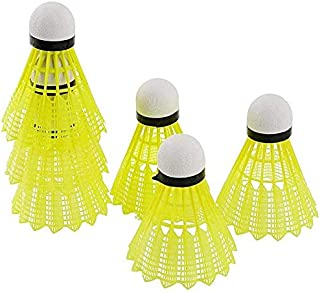 PROSPO Outdoor Hawang Badminton Shuttlecocks/Nylon Feather Shuttlecocks High Speed Badminton Balls Great Durability Stability for Sports Training | Color: Yellow (Pack of 6) |
