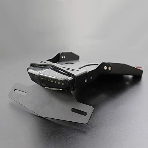 Molduras ornamentales para motocicleta, soporte para placa de matrícula, freno de luz trasera para BMW R NINE T 2014-2018 R9T (color negro pantalla de lámpara)