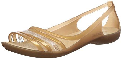 crocs Damen IsabellaFltSndl Pantoletten, Gold (Bronze), 36/37 EU